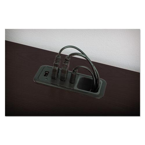 """Enterprise Collection L-Desk Surface, 60"""" x 60"""" x 29.75"""", Mocha Cherry, (Box 2 of 2). Picture 3"""