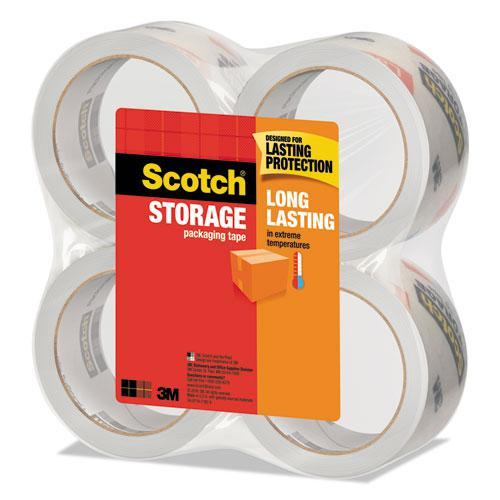 """Storage Tape, 3"""" Core, 1.88"""" x 54.6 yds, Clear, 4/Pack. Picture 2"""
