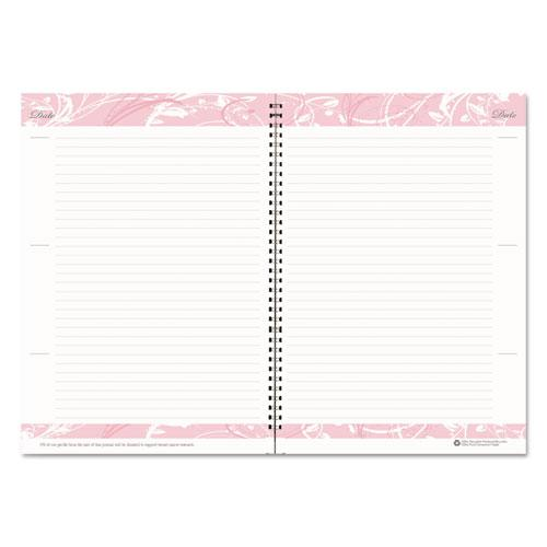 Recycled Breast Cancer Awareness Monthly Planner/Journal, 10 x 7, Pink, 2021. Picture 4