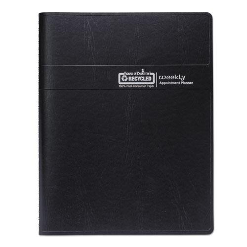 Recycled Weekly Appointment Book, Ruled without Times, 8.75 x 6.88, Black, 2021. Picture 7