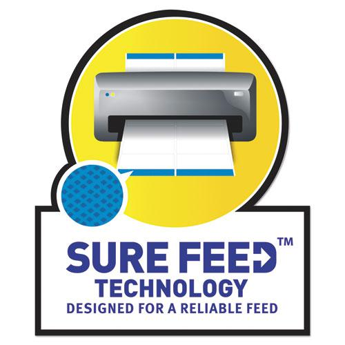 White Address Labels w/ Sure Feed Technology for Laser Printers, Laser Printers, 0.5 x 1.75, White, 80/Sheet, 250 Sheets/Box. Picture 6
