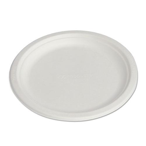 """Renewable & Compostable Sugarcane Plates, 9"""", 500/Carton. Picture 4"""