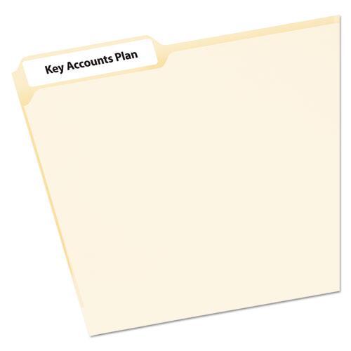Mini-Sheets Permanent File Folder Labels, 0.66 x 3.44, White, 12/Sheet, 25 Sheets/Pack. Picture 1