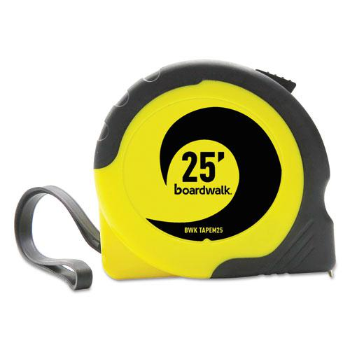 """Easy Grip Tape Measure, 25 ft, Plastic Case, Black and Yellow, 1/16"""" Graduations. Picture 2"""