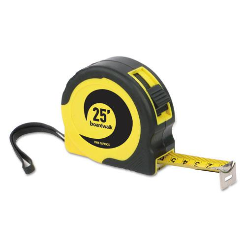 """Easy Grip Tape Measure, 25 ft, Plastic Case, Black and Yellow, 1/16"""" Graduations. Picture 4"""