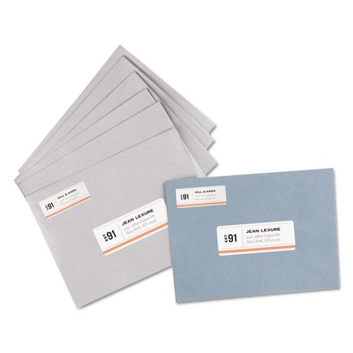 White Address Labels w/ Sure Feed Technology for Laser Printers, Laser Printers, 1 x 2.63, White, 30/Sheet, 250 Sheets/Box. Picture 2