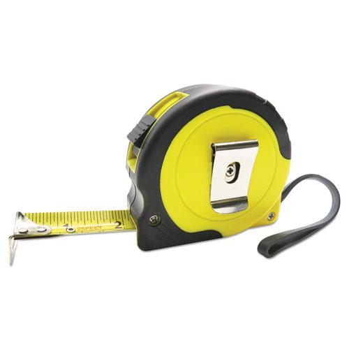 """Easy Grip Tape Measure, 25 ft, Plastic Case, Black and Yellow, 1/16"""" Graduations. Picture 3"""