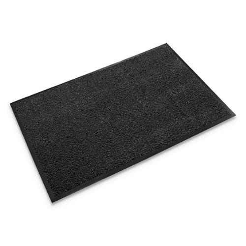 Dust-Star Microfiber Wiper Mat, 36 x 60, Charcoal. Picture 1