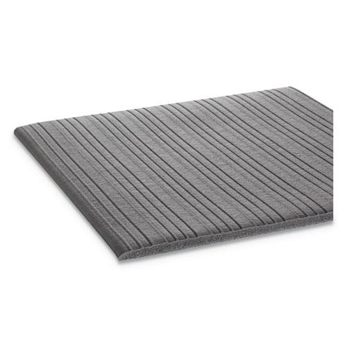 Ribbed Anti-Fatigue Mat, Vinyl, 27 x 36, Gray. Picture 2