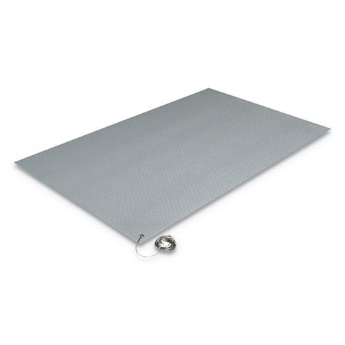 Antistatic Comfort-King Mat, Sponge, 24 x 60, Steel Gray. Picture 1