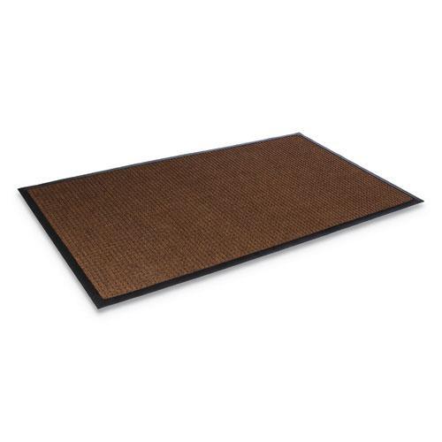 Super-Soaker Wiper Mat with Gripper Bottom, Polypropylene, 36 x 60, Dark Brown. Picture 1