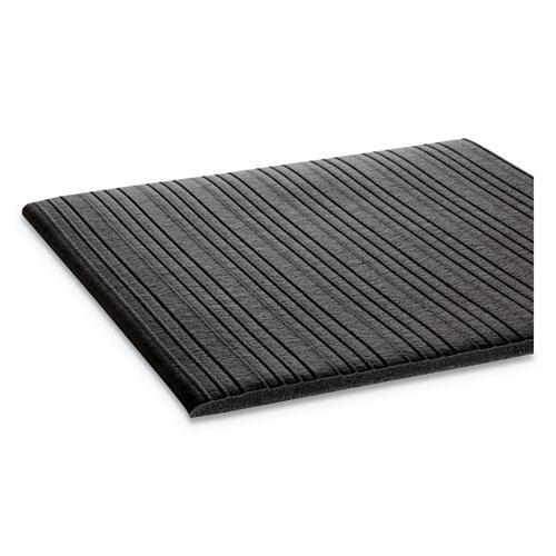 Ribbed Vinyl Anti-Fatigue Mat, 36 x 60, Black. Picture 2