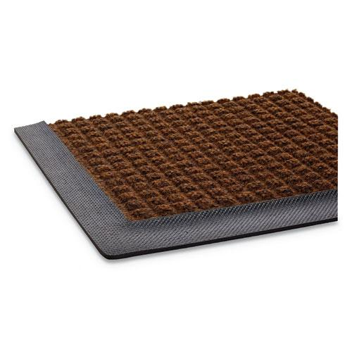 Super-Soaker Wiper Mat with Gripper Bottom, Polypropylene, 36 x 60, Dark Brown. Picture 4