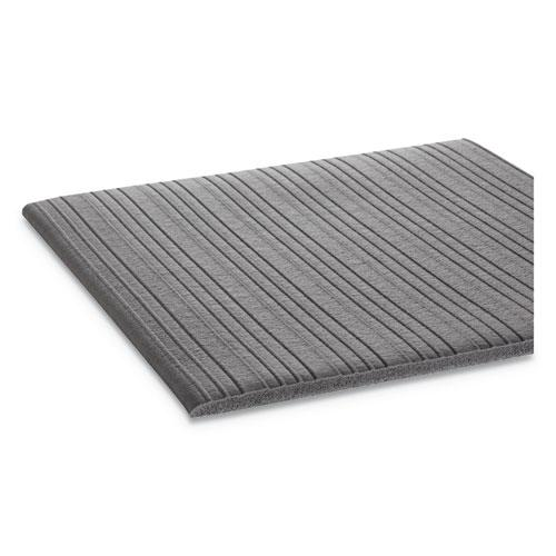 Ribbed Anti-Fatigue Mat, Vinyl, 36 x 60, Gray. Picture 2