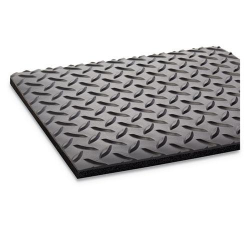 Industrial Deck Plate Anti-Fatigue Mat, Vinyl, 36 x 60, Black. Picture 2
