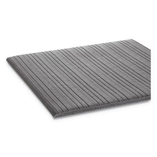 Ribbed Anti-Fatigue Mat, Vinyl, 36 x 120, Gray. Picture 2