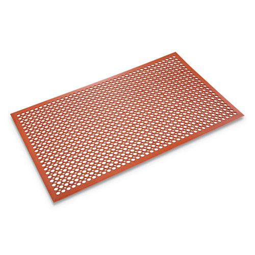 Safewalk-Light Heavy-Duty Anti-Fatigue Mat, Rubber, 36 x 60, Terra Cotta. Picture 1