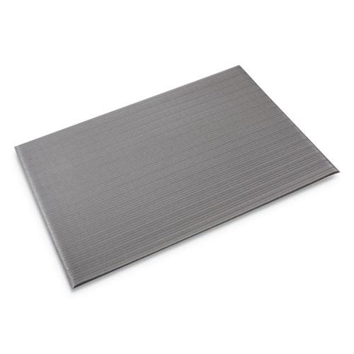 Ribbed Anti-Fatigue Mat, Vinyl, 36 x 60, Gray. Picture 1