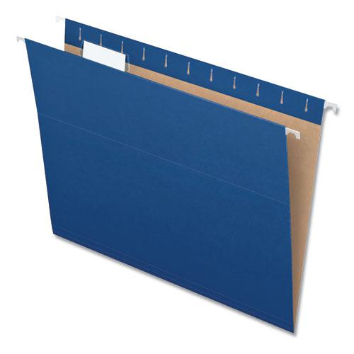 Colored Hanging Folders, Letter Size, 1/5-Cut Tab, Navy, 25/Box. Picture 8