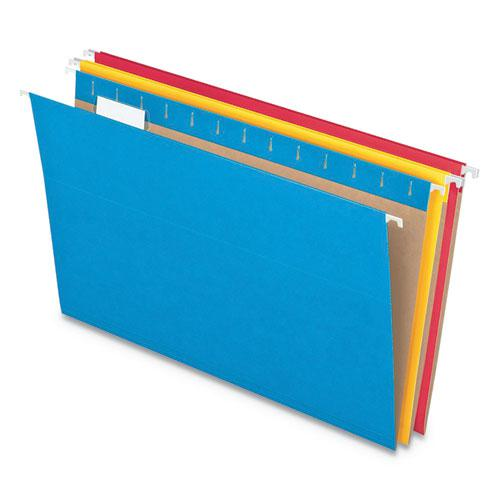Colored Hanging Folders, Legal Size, 1/5-Cut Tab, Assorted, 25/Box. Picture 8