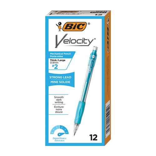 Velocity Original Mechanical Pencil, 0.9 mm, HB (#2.5), Black Lead, Turquoise Barrel, Dozen. Picture 2