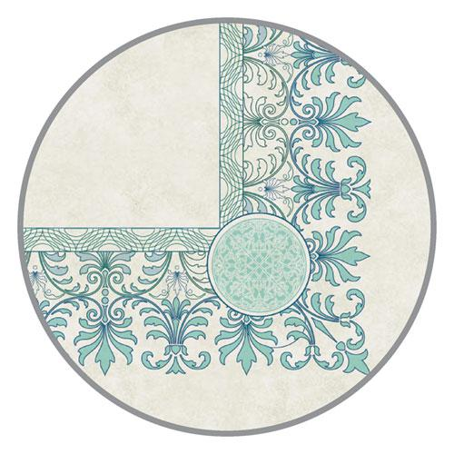 Parchment Certificates, Academic, Ivory with Green and Blue Border, 8 1/2 x 11, 25/Pack. Picture 2