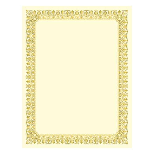 Premium Certificates Ivory Fleur Gold Foil Border 66