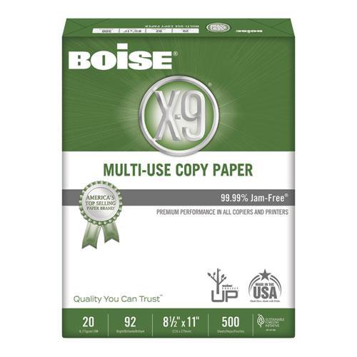 X-9 Multi-Use Copy Paper, 92 Bright, 20lb, 8-1/2 x 11, White, 5000 Sheets/Carton. Picture 1
