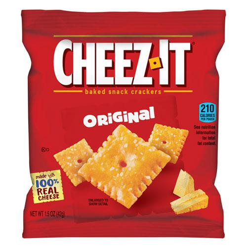 Cheez-It Crackers, 1.5 oz Single-Serving Snack Pack, 8/Box. Picture 1