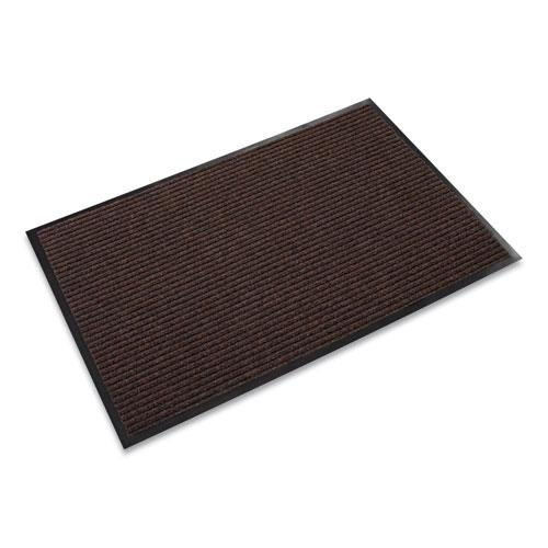 Needle Rib Wipe and Scrape Mat, Polypropylene, 48 x 72, Brown. Picture 1