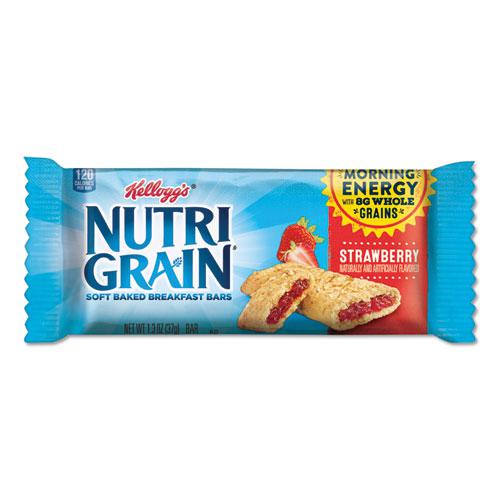 Nutri-Grain Soft Baked Breakfast Bars, Strawberry, Indv Wrapped 1.3 oz Bar, 16/Box. Picture 1