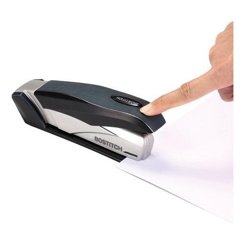 inFLUENCE+ 28 Premium Desktop Stapler, 28-Sheet Capacity, Black/Silver. Picture 2