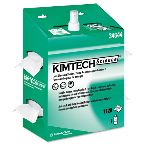 KIMWIPES Lens Cleaning, 16oz Spray, 4 2/5 X 8 1/2, 1120 Wipes/Box, 4/Carton. Picture 1