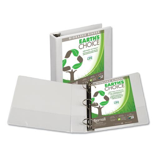 """Earth's Choice Biobased D-Ring View Binder, 3 Rings, 2"""" Capacity, 11 x 8.5, White. Picture 1"""