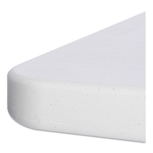 Resin Rectangular Folding Table, Square Edge, 96w x 30d x 29h, Platinum. Picture 3