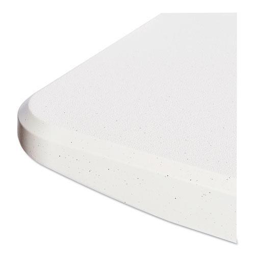Resin Rectangular Folding Table, Square Edge, 72w x 30d x 29h, Platinum. Picture 3