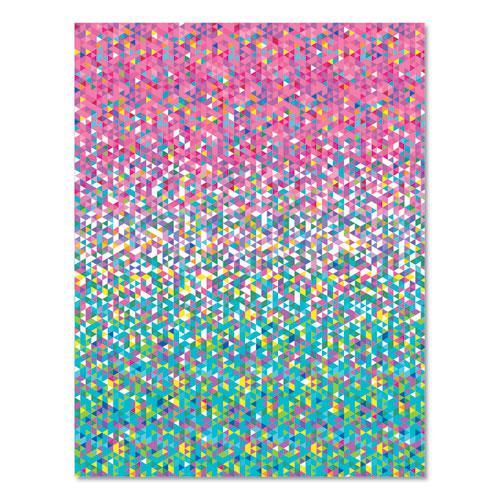 Pre-Printed Paper, 28 lb, 8.5 x 11, Confetti, 100/Pack. Picture 3