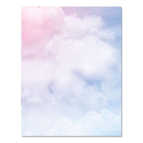Pre-Printed Paper, 28 lb, 8.5 x 11, Clouds, 100/Pack. Picture 3