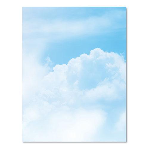 Pre-Printed Paper, 28 lb, 8.5 x 11, Clouds, 100/Pack. Picture 2