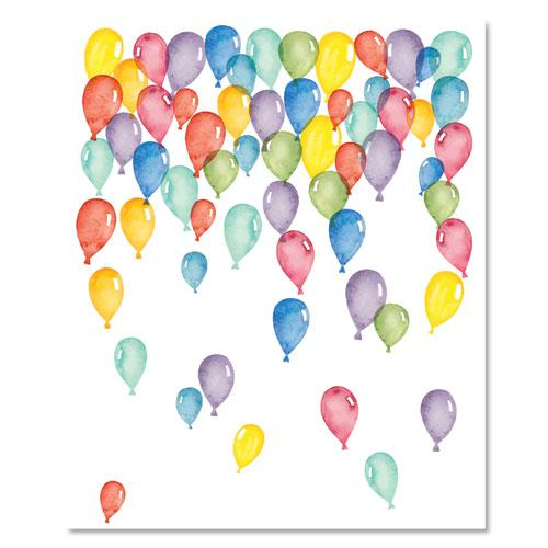 Pre-Printed Paper, 28 lb, 8.5 x 11, Balloons, 100/Pack. Picture 3