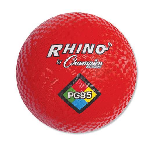 "Playground Ball, 8-1/2"" Diameter, Red. Picture 1"