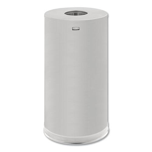 European and Metallic Series Drop-In Top Receptacle, Round, 15 gal, Satin Stainless. Picture 1