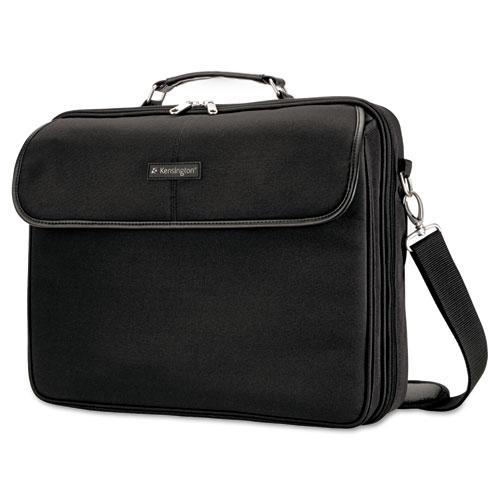 Simply Portable 30 Laptop Case, 15 3/4 x 3 x 13 1/2, Black. Picture 1