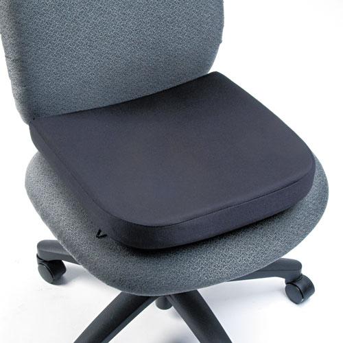 Memory Foam Seat Rest, 13.5w x 14.5d x 2h, Black. Picture 1