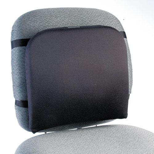 Memory Foam Backrest, 16w x 12d x 16h, Black. Picture 1