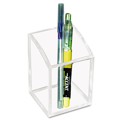 Acrylic Pencil Cup, 2 3/4 x 2 3/4 x 4, Clear. Picture 1