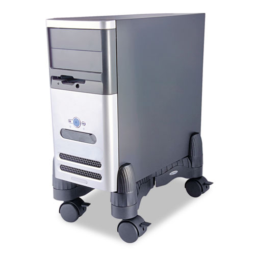 Mobile CPU Stand, 4.5w x 16d x 7h, Black. Picture 1