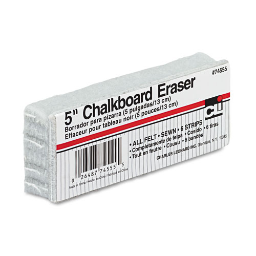 """5-Inch Chalkboard Eraser, 5"""" x 2"""" x 1"""". Picture 1"""