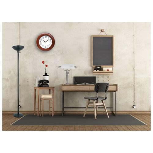 """Round Wood Wall Clock, 12.75"""" Overall Diameter, Cherry Case, 1 AA (sold separately). Picture 2"""