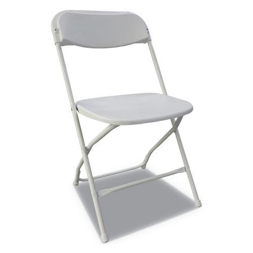 Economy Resin Folding Chair Whiteanthracite 4 Carton